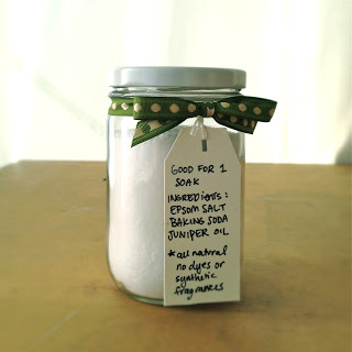 Gift Ideas: Homemade Bath Salts